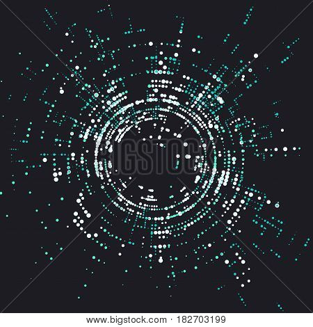 Radial lattice graphic design abstract background,Vector graphics.