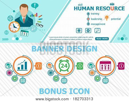 Human Resource Design And Abstract Cover Header Background For Website Design.