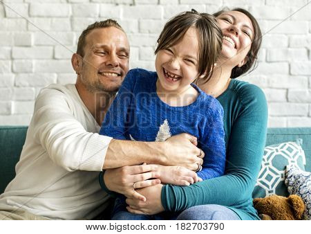 Family Together Cuddling Love Happy