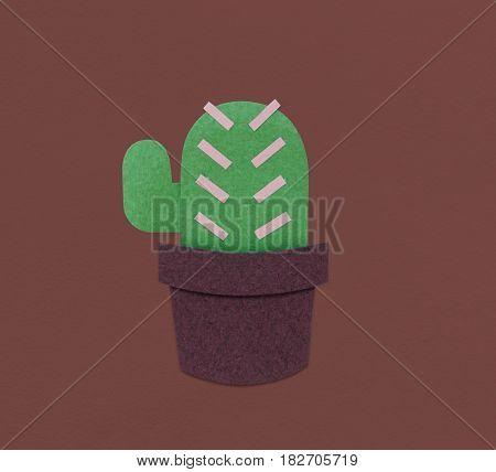 Cactus Plant Flower Icon Illustration
