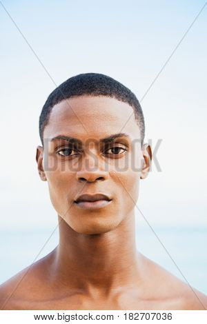 Serious African man