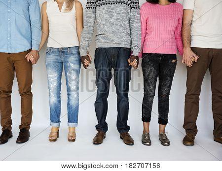 Diversity People Friendship Hold Hands Together