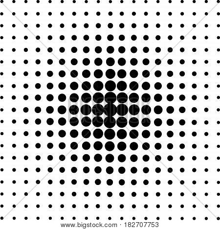 Halftone circles halftone dot pattern. Vector illustration.