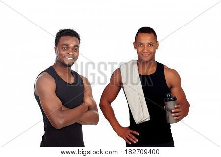 Trainers prepared for training isolated on a white background