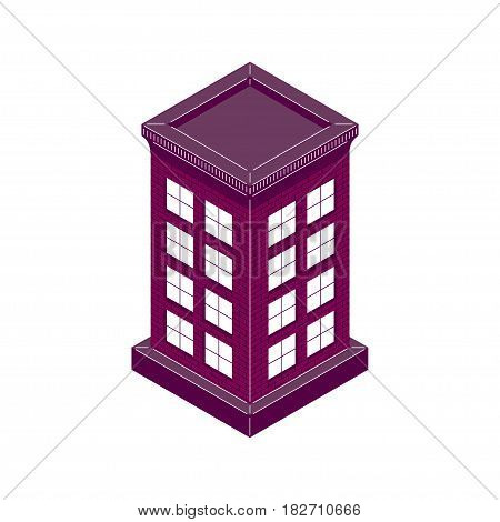 The house is brick high in isometric style