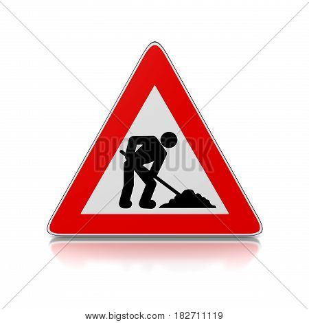 Man At Work Triangle Road-sign