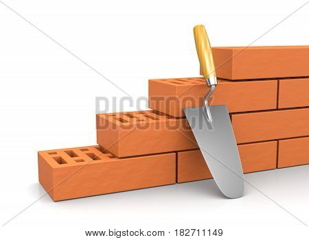 Trowel Leaned Against A Wall