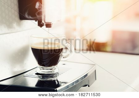 Home Professional Coffee Machine With Espresso Cup