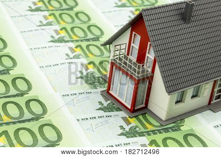residential house on bank notes
