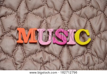 word music on a  abstract colorful background
