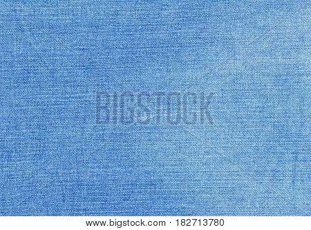 Blue Color Jeans Textile Texture.