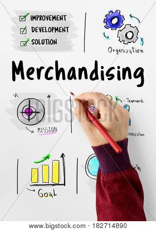 Merchandising business management strategy sketch
