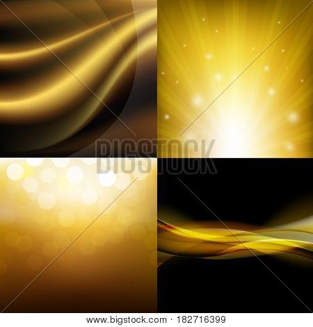 Luxury Golden Backgrounds Set