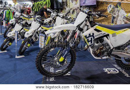 Husqvarna Motorcycle Fc 350 Presented On Tel-aviv Motor Show