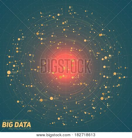 Big data green visualization. Futuristic infographic. Information aesthetic design. Visual data complexity. Complex data threads graphic. Social network representation. Abstract data graph.