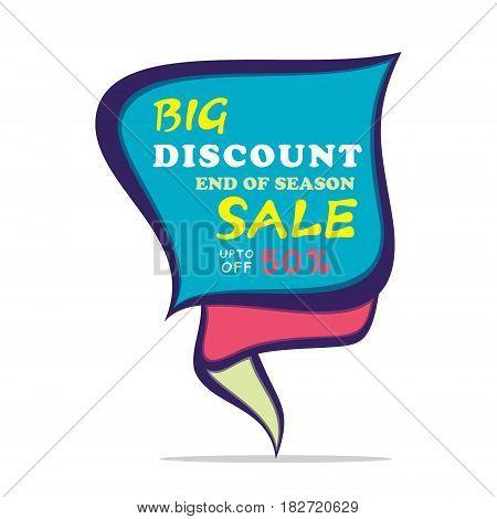 big discount end of season sale banner design