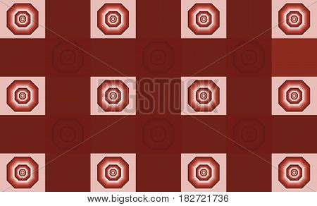 abstract figure in the form of octagon of colors of the same range