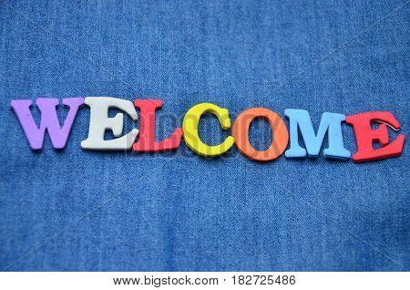 word welcome on a  abstract colorful background