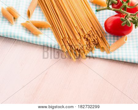 Whole Grain Pasta With Raw Fresh Tomatoes