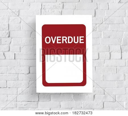 Overdue Late Delayed Warning Banner Graphic
