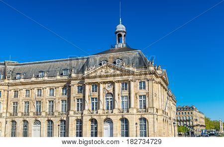 Palais de la Bourse in Bordeaux - France, Aquitaine