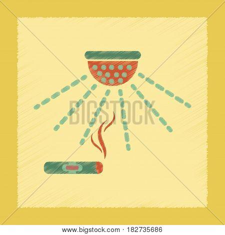 flat shading style icon poker cigar smoke alarm