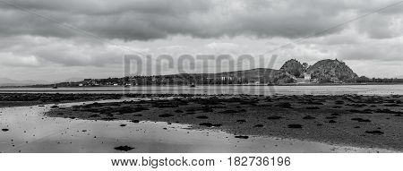 Castle on the Clyde with biding clouds