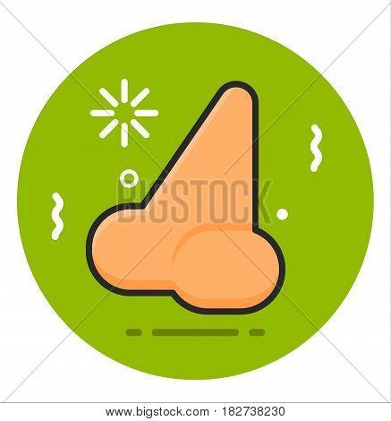 Nose human icon illustration design art rasterized