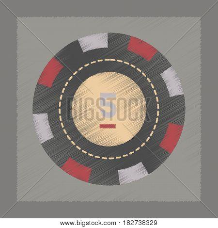 flat shading style icon single poker chips