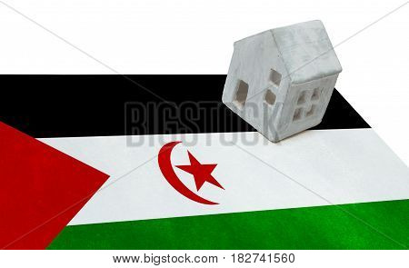 Small House On A Flag - Western Sahara
