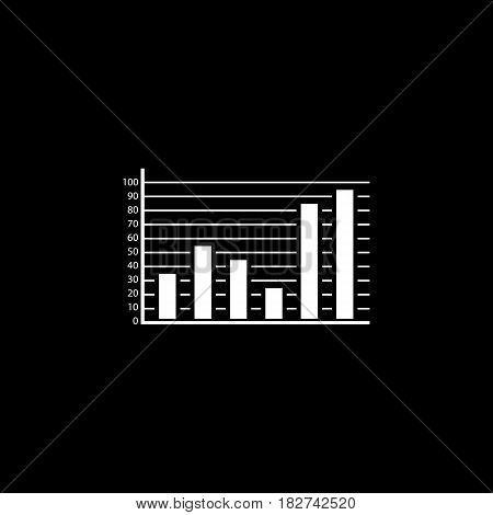Web marketing analytics solid icon, seo and development, Statistic sign, a filled pattern on a black background, eps 10.