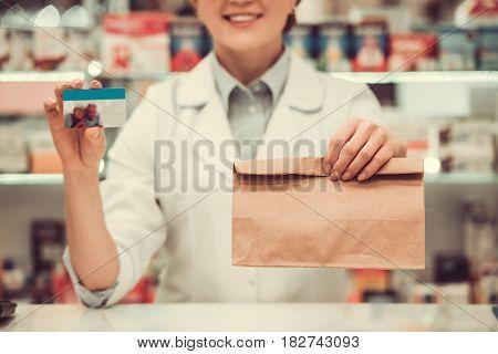 Beautiful Pharmacist At Work