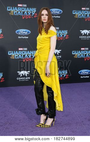 LOS ANGELES - APR 19:  Karen Gillan at the