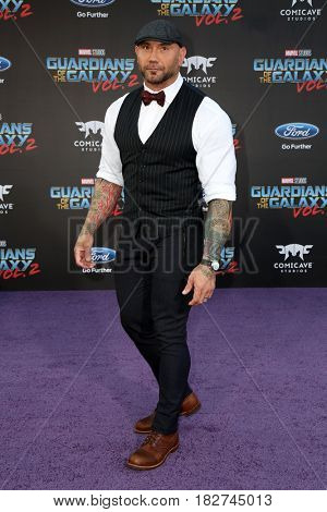 LOS ANGELES - APR 19:  Dave Bautista at the