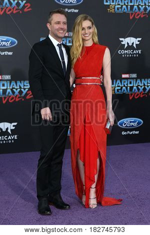 LOS ANGELES - APR 19:  Chris Hardwick, Lydia Hearst at the