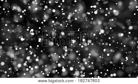 Beautiful monochrome bokeh blurred background with defocused lights