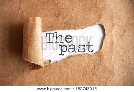 Torn piece of scroll uncovering the past