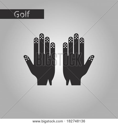 black and white style icon Golf gloves