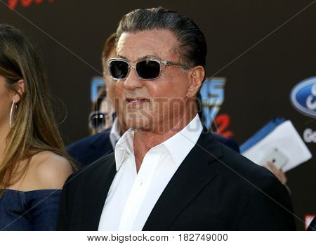 Sylvester Stallone at the Los Angeles premiere of 'Guardians Of The Galaxy Vol. 2' held at the Dolby Theatre in Hollywood, USA on April 19, 2017.