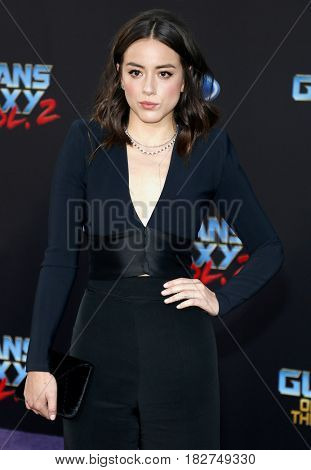 Chloe Bennet at the Los Angeles premiere of 'Guardians Of The Galaxy Vol. 2' held at the Dolby Theatre in Hollywood, USA on April 19, 2017.