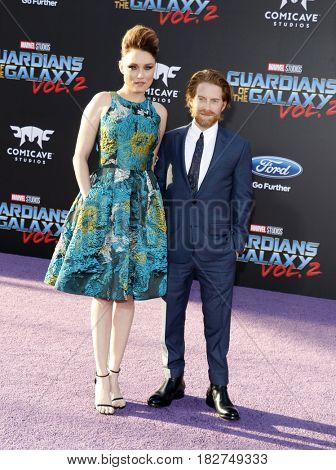 Seth Green and Clare Grant at the Los Angeles premiere of 'Guardians Of The Galaxy Vol. 2' held at the Dolby Theatre in Hollywood, USA on April 19, 2017.