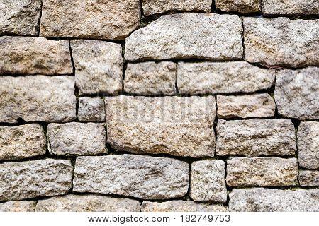 Old Stone Brick Wall Pattern Of Decoration
