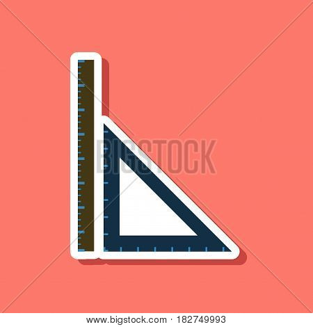 paper sticker on stylish background of ruler