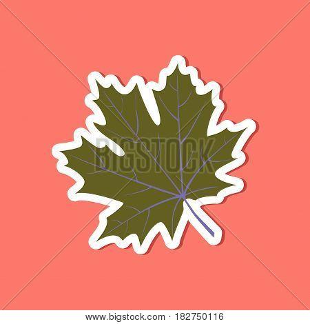 paper sticker on stylish background of Maple Leaf