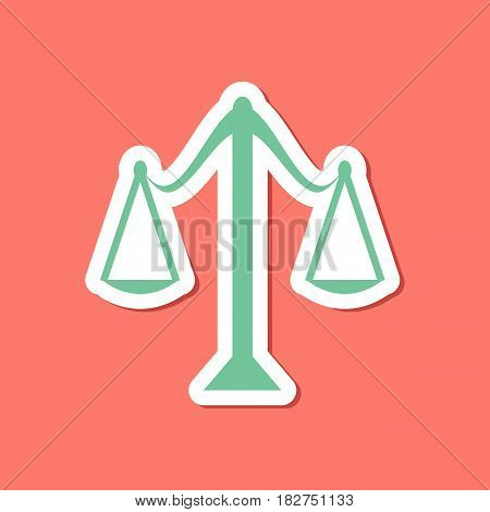 paper sticker on stylish background of scales
