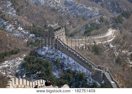 BADALING - FEBRUARY 24:  The Great Wall of China in Badaling, China, February 24, 2016.