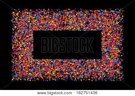 Colored Frame Isolated On Black Background.