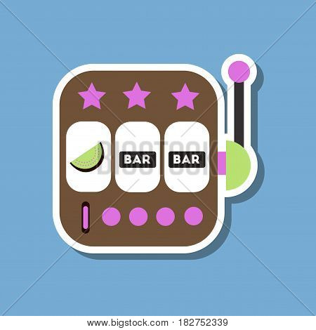 paper sticker on stylish background of slot machine