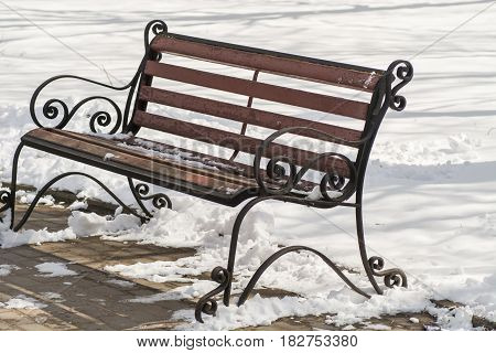 Bench Winter Snow