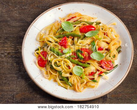 Tagliatelle Pasta With Vegetables